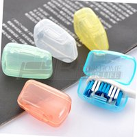Wholesale 5Pcs Portable Toothbrush Cover Holder Travel Hiking Camping Brush Cap Case YKS