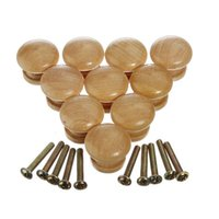 Wholesale 10pcs Wooden Cabinet Drawer Wardrobe Home Decor Door Knob Pull Handle Hardware Plain HY4520