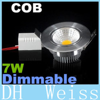 aluminum angels - 7W COB Led Down Lights AC V Dimmable Led Recessed Downlights lm Angel Warm Natrual Cold White CE ROHS UL CSA SAA