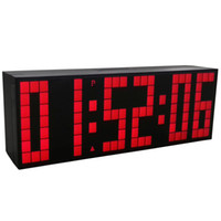 Alarm Clocks backlight clock radio - Large Big Jumbo LED Clock Display Table Desk Wall Alarm Remote Control Calendar Digital Timer LED Watch Blue Clock