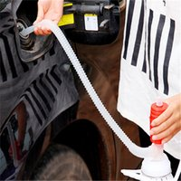 Wholesale Hot pc Portable Manual Car Siphon Hose Gas Oil Water Liquid Transfer Hand Pump Oil Suction Pipe