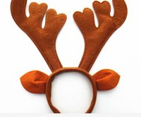 Wholesale Christmas party Brown antlers headband props supplies