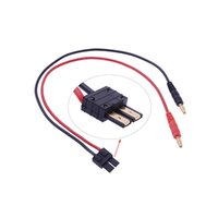 banana plug adaptor - 4 mm Banana Plug to TRX Male Connector Adaptor Cable cm Long for Lipo Battery Balance Charging