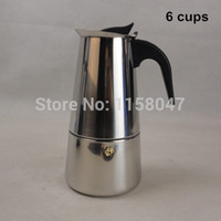 Wholesale New Cup ml Stainless Steel Moka Espresso Latte Percolator Stove Top Coffee Maker Pot A3