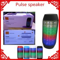 big wholesale - New Pulse speaker pill bluetooth speaker Bluetooth audio wireless big sound box support TF card portable Speakers with LED light FM