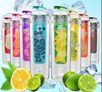 Wholesale 800ML Portable Tritan BPA Sports Water Bottle Fruit Infusing Infuser Lemon Juice Health Bottle Flip Lid Drinkware