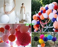 Wholesale 6 quot Tissue Paper Flower Pom Poms Balls Wedding Party Baby Shower Decorations Brand New Good Quality