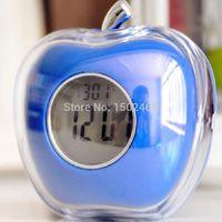 Wholesale one piece desktop clock wekker Crystal Apple Talking Alarm Clock For Best gift