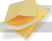 El papel de kraft de oro envuelve el envío libre de la gota del paquete del regalo de los sobres de 110m m * 130m m de la envoltura del PE de la burbuja del PE del embalaje de los bolsos del correo aéreo