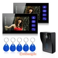 Wholesale DHL EMS V2 quot LCD WIRED HOME SECURITY DOORBELL SYSTEM VIDEO INTERCOM COLOR CAMERA DOOR PHONE NIGHT VISION