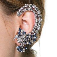 animal ear cuff - European Fashion Personality Metal Full Crystal Eagle Earrings Clip Punk Jewelry Female Ear Cuff Earrings Hang