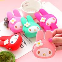 animal gel - Lovely mini zero wallet soft bag Cartoon Silica Gel Coin Purses Key Wallet Portable Purse