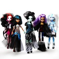 barbie dolls - Children Toys Amusing Monster High Dolls and Full Joints Barbie and High Imitation Plastic Spirit Dolls