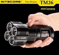 Wholesale NiteCore TM26 quot LCD lm Multi Mode Memory White LED Flashlight w x Cree XM L U2 x Battery