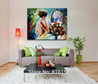 beauty knite - Sexy Nude Beauty Charming Back with Rose Painting Palette Knite Oil Picture Body Art Canvas Prints for Home Living Hotel Bar Wall Decor