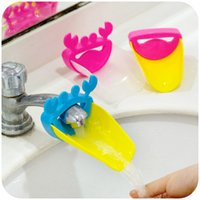 Wholesale 2X CUTE CRAB FAUCET EXTENDER SINK HANDLE NON TOXIC FOR KID CHILDREN TODDLER BABY BATHROOM KITCHEN WASH WAHSING HANDS