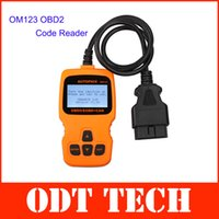 Wholesale New Arrival OM123 OBD2 EOBD CAN Hand held Engine Code Reader Orange Color with Multi language