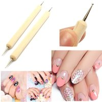 Wholesale Hot New Dotting Marbleizing Two Sides Dot Paint Double point Tool Nail Art Pens for Professional Nail Specialist Nail Art Work
