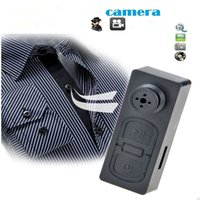 Wholesale New Key Chain Design Mini Camcorder Lightweight Hidden Spy Cameras Portable Security Recorder Spy Button DV free epacket