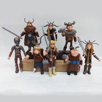 Wholesale 8pcs A Set How To Train Your Dragon Hiccup Astrid Stoick Fishlegs PVC Figure