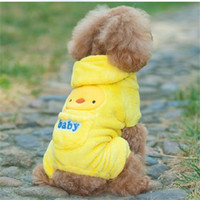 Precio de Perros perro de aguas-Al por mayor-Teddy Bear Chihuahua perro paño de tela de invierno poodle cocker spaniel bulldog ropa Corgi Labrador Schnauzer