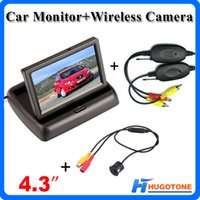 LCD Monitor acura mdx black - High Quality quot Car Monitor Channels Videos Wireless Car Rearview Camera Wide Viewing Angle Waterproof Rearview Camera System