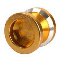 Wholesale YOYO Magic Yo yo N8s Dare to do String Trick Gold Aluminum