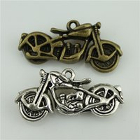 Wholesale 30pcs mm colors antique bronze antique silver tone zinc alloy d Motorcycle charm diy vintage jewelry