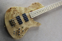 Wholesale The Customzied String Electric Bass with Neck thru body Design and Gold Hardware Black Pickups and Can be Changed