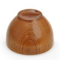 Wholesale 2015 Cheap Natural Originality Simple Matt Chestnut Brown Bowl Japanese Children Soup Bowls Environmental Protection Wood MW02