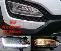 hyundai ix45 - 2 set Waterproof daytime driving running lights LED Car DRL for Hyundai santa fe ix45 fog lamp