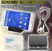 Wholesale Desktop Micro USB Magnetic Charging Dock Station Charger Cradle For Sony Xperia Z Z1 Z2 Z3 Compact DK36 DK48 DK31 DK30 DK32 DK39