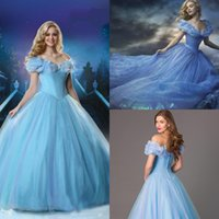 lc - 2015 New Movie Cinderella Prom Dresses Cosplay Costum Charming Butterfy Princess Sweet Ball Gows Quinceanera Party Dress Puffy Organza LC