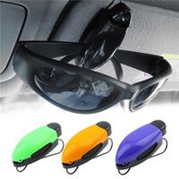 Cheap Car Glasses Holder Auto Vehicle Visor Sunglass Eye Glasses Business Bank Card Ticket Holder Clip Support +Color Random Newest