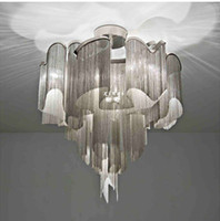 Wholesale Creative Italy Ceiling Lamp Modern Luxury Hotel Tassels Celing Light Living Room Alumninum Chain Ceiling Lamp