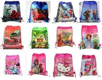 backpack factory - 50pcs Factory sale Cartoon froze princess Drawstring Backpack School Bags Party Favors bag cm Non Woven Fabric