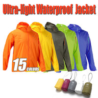 zipper hooded jacket - Fall Outdoor Waterproof Windproof Hiking Jacket Men Women Coat Windbreaker Ultra light Camping Jacket Men Jackets Women Colors