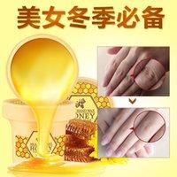 Wholesale milk honey nourishing wax hand membrane hand crea whitening moisturizing hand mask anti wrinkle paraffin baths exfoliating scrub