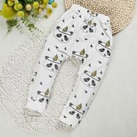 Wholesale baby harem pants cotton panda animal printed baby girls pants baby toddler harem pants pattern for kids