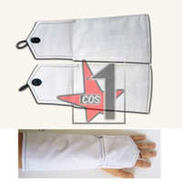 Wholesale Anime Bleach Kuchiki Byakuya cosplay oversleeves Wearing white fingerless cosplay long gloves protecting the hand CN0065