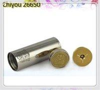 Cheap e cigarette mechanical mod vaporizer 26650 chiyou mod 26650 e cig mod Chiyou stainless steel black mod for 26650 Patriot Taifun GT atomizers