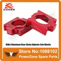 Wholesale CR R CRF R X R X Billet Aluminum Rear Chain Adjuster Axle Blocks Fit CRF Motorcross Dirt Bike