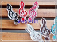 Wholesale DHL Freeshipping music clip stationery folder clip musical note clips Piano Book Page Clips
