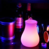 Wholesale Outdoor indoor waterproof LED Light Flower pot Multicolore OLIO Vase Lumineux plant pot of night table lamp
