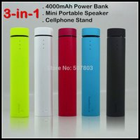 battery powered speakers for iphone - Hot Sale in mAh Power Bank Mini Speaker Cellphone Holder Stand External Battery Charger For iPhone Samsung Cellphone