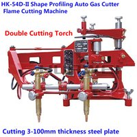 3-100mm automatic gas cutter - HK D II Automatic Gas Cutter with Double Cutting Torch Profiling Flame Cutting Machine Copy Model Shape to Profiling Cutting