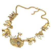 animal hunter - Hunter style cow elephant horse animals boat jewelry necklace