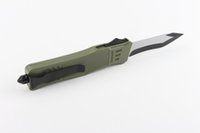 Wholesale Microtech Troodon EDC Alum Handle High quality Strong Knife Green