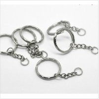 Wholesale 100pcs Hot Sell Antique Silver Band Chain key Ring DIY Accessories Material Accessories mm