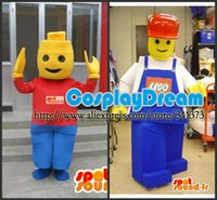 Wholesale Advertising Mascot LEGO Mascot Costume High Quality Mascot Customized Carnival Mascot Costumes